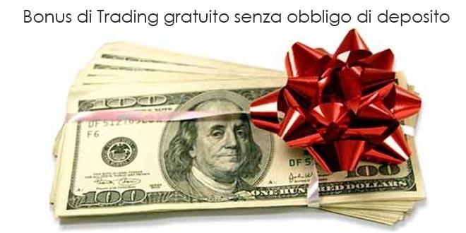 Forex trading bonus senza deposito